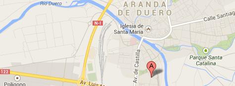 mapa del Centro en Aranda