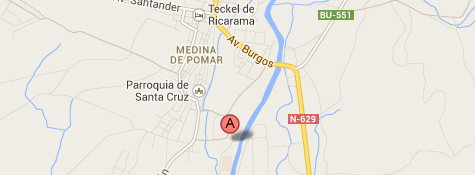 Mapa del Centro en Medina de Pomar