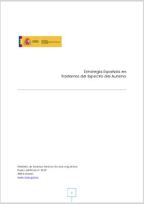 Estrategia Española en Trastornos del Espectro del Autismo