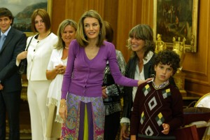 Audiencia en el Palacio de la Zarzuela a la Asociación Autismo Burgos en 2008 por SAR Dña. Letizia Ortiz.