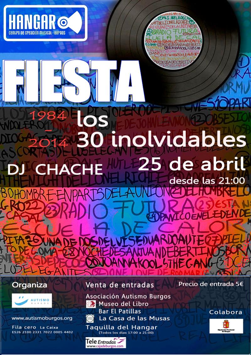 Cartel Fiesta El Hangar 2014