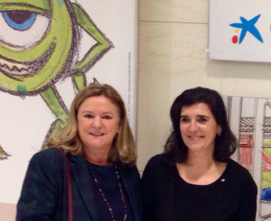 Laura Esteban de Autismo Burgos en Caixa Forum Barcelona