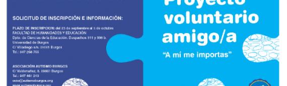"""Autismo Burgos participa en los IV Premios al Voluntariado Universitario: """"Programa Voluntariado Amigo"""