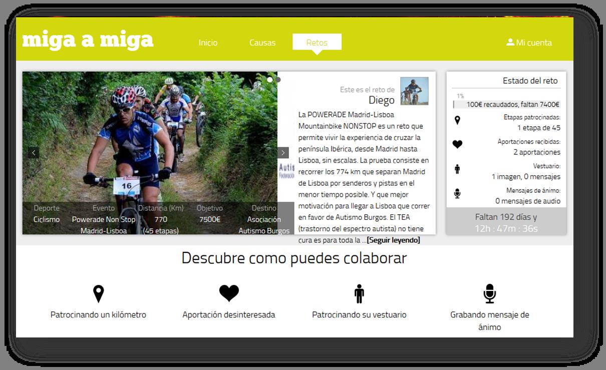 Apoya el reto Solidadio de Diego a favor del Autismo