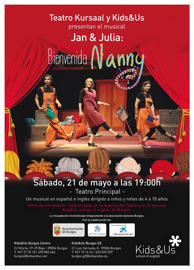 """Juan & Julia: ¡Bienvenida, Nanny!""  MUSICAL A FAVOR DE AUTISMO BURGOS"