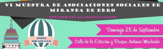 Participamos en la Muestra de Asociaciones de Miranda de Ebro