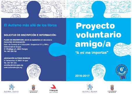 El programa Voluntario Amigo de UBU y Autismo Burgos premiado en los Premios al Voluntariado Universitario