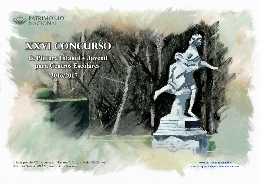Paula Gutierrez, alumna de el Colegio El Alba seleccionada en el Concurso de pintura de Patrimonio Nacional