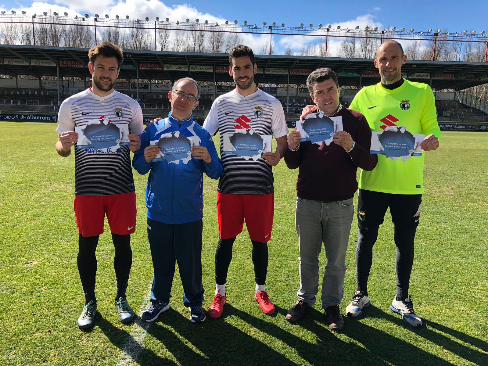 El Burgos Club de Fútbol se une a la camapaña Romper Barreras por el Autismo