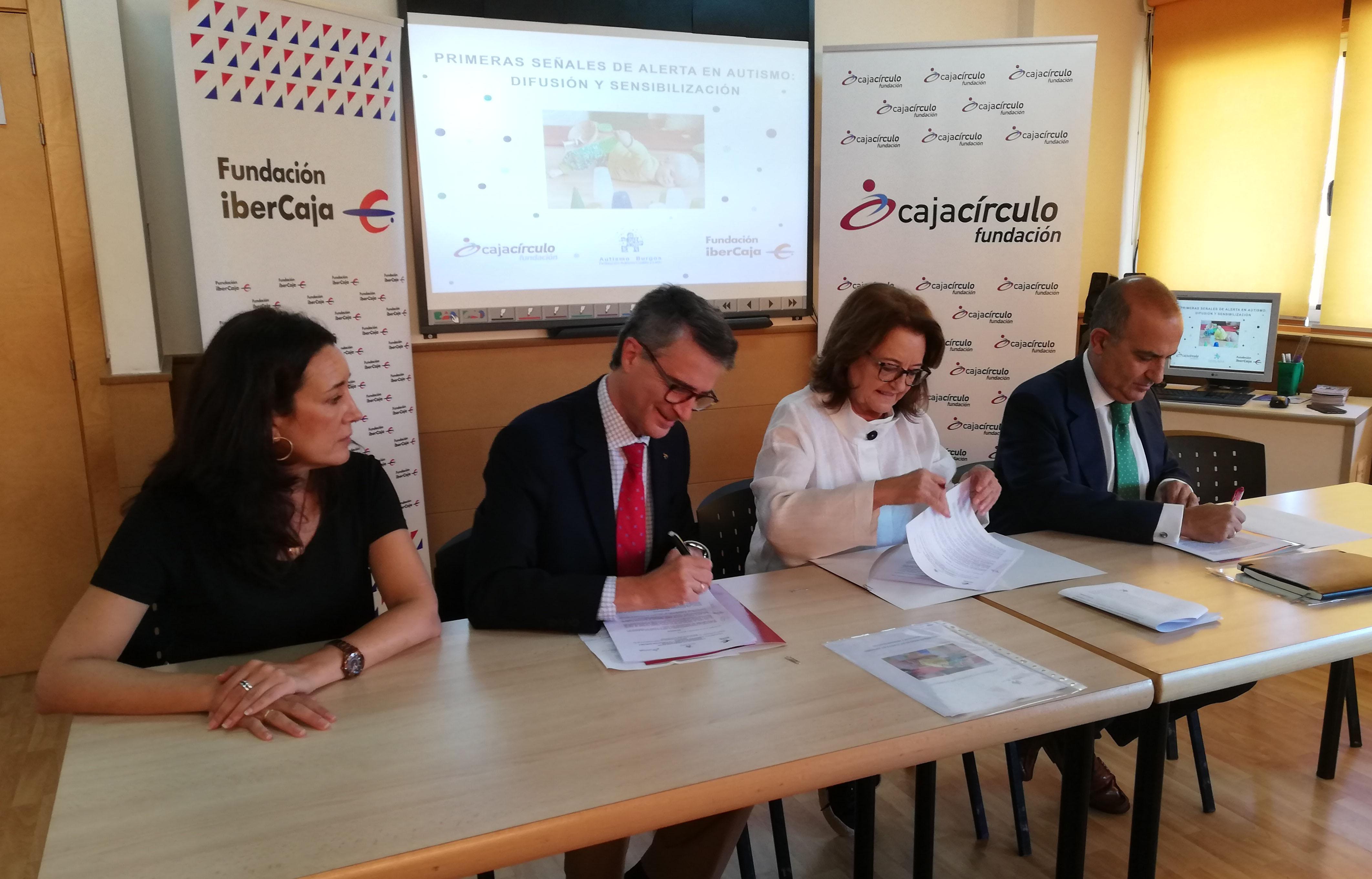 Fundación Cajacírculo y Fundación Ibercaja firman convenio de colaboración con Autismo Burgos