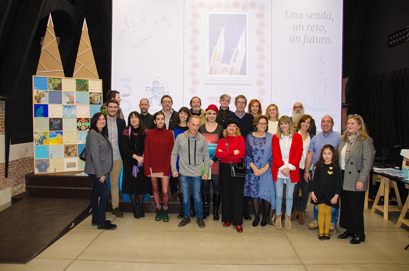 «Gárgolas de Solidaridad», obra colectiva con motivo del 35º Aniversario de Autismo Burgos