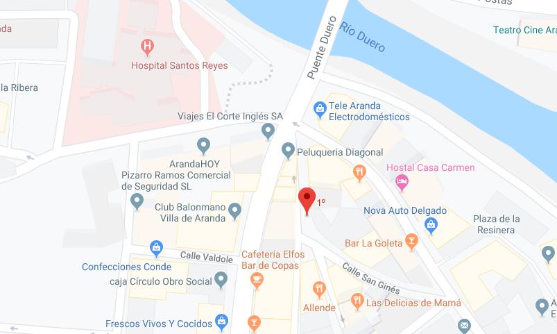 mapa del Sede en Aranda