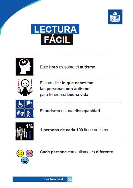 PERSONAS CON TRASTORNO DEL ESPECTRO DEL AUTISMO: IDENTIFICACIÓN, COMPRESIÓN, INTERVENCIÓN. lectura facil