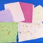 Pliegos de papel reciclado