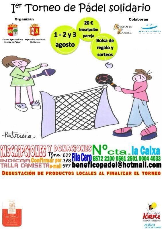 Torneo de Pádel Solidario en Medina de Pomar