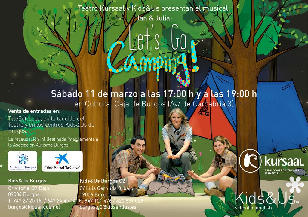 Let´s Go Camping! Ven al Musical a favor de Autismo Burgos
