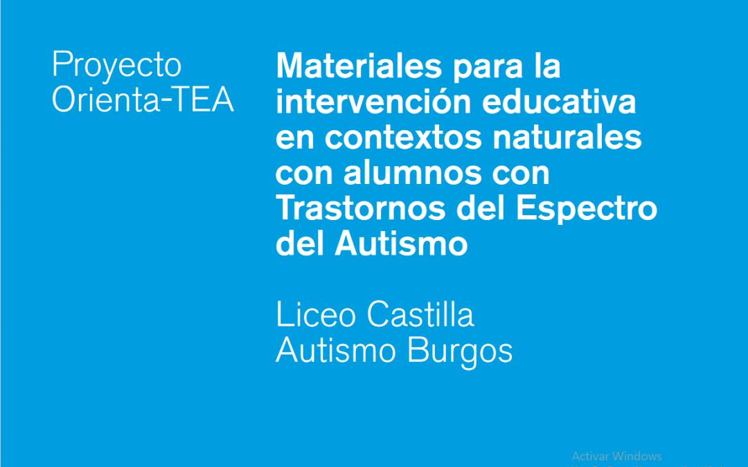 Materiales para la intervención educativa en contextos naturales con alumnos con TEA