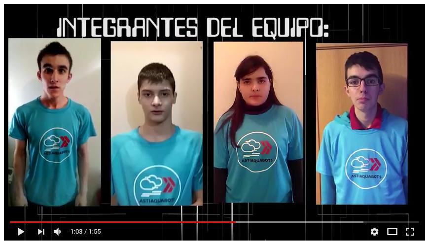 El equipo Aquabots participa en el desafío de robótica educativa ASTI en Burgos