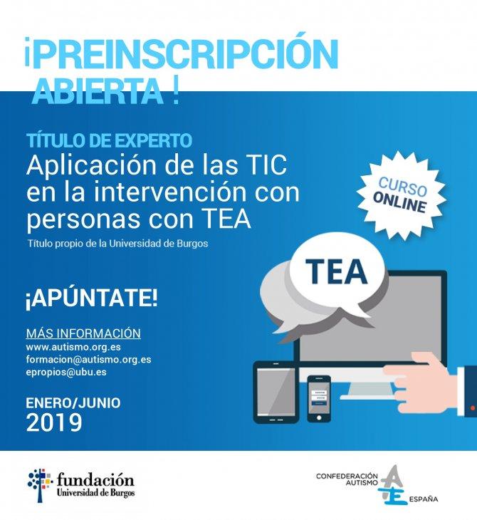Cartel título experto TIC y TEA