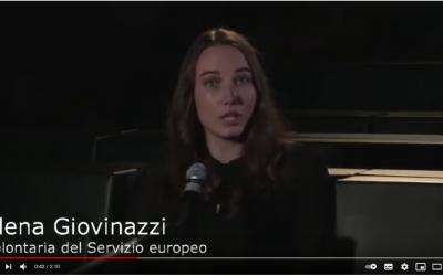 Elena Giovinazzi voluntaria en Autismo Burgos participa en el evento «Prima d'essere l'Europa»