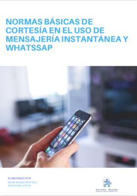 Normas básicas de cortesía en el uso de mensajería instantánea y WhatsApp